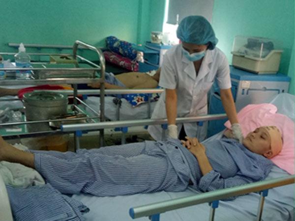 Hình ảnh bệnh nhân loét tỳ đè